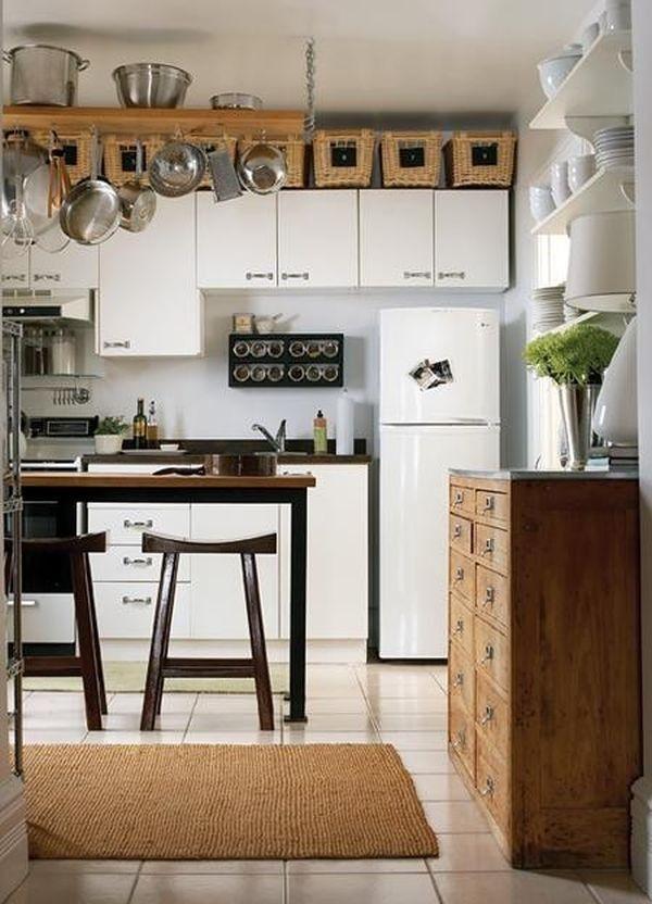những chiếc giỏ mây sẽ là giải pháp dành cho bạn  Siêu thị Bếp điện từ Các cách tận dụng nóc tủ bếp gia đình (phần 2) | Tin tức siêu thị bếp điện từ