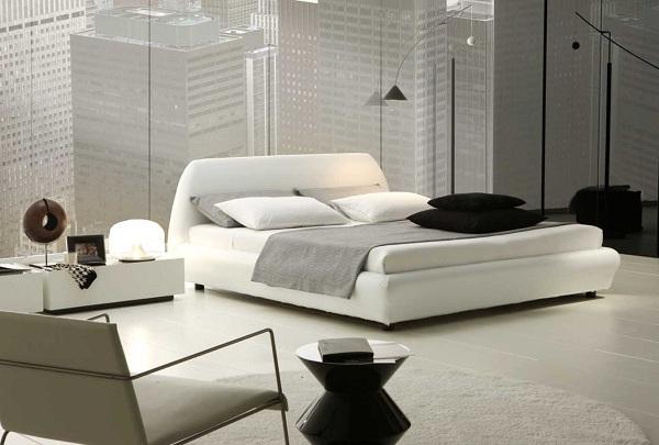 Một mẫu phòng ngủ sử dụng màu trắng