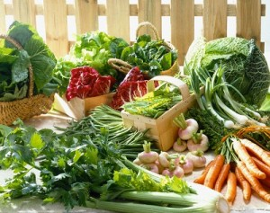 Selection of Early Vegetables