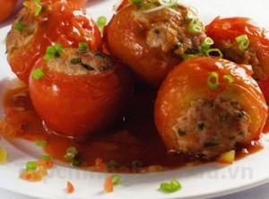 Cà chua nhồi thịt thơm ngon