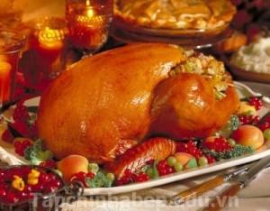 Gà tây nướng thơm ngon đón Giáng Sinh