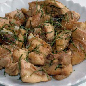 gà rang lá chanh món ăn mùa đông ngon