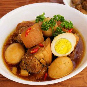 món ăn mùa đông trứng kho thịt