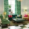 Những thiết kế phòng khách mới lạ với gam màu xanh nổi bật