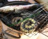 Đặc sản rắn trun nướng lèo.